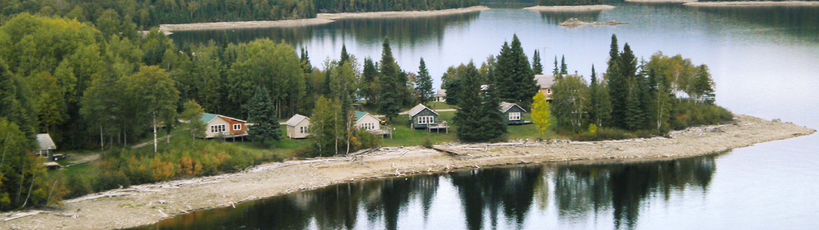 Aerial view of Horwood Lake Lodge