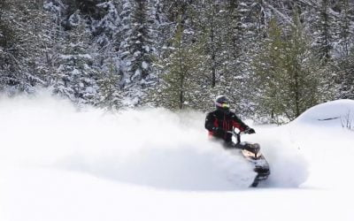 Snowmobiling video