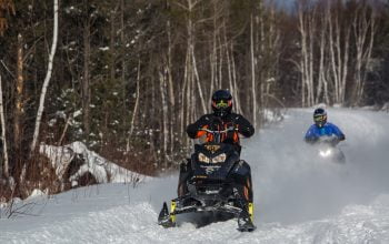 Snowmobiling at Horwood Lake Lodge