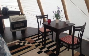 Tipi dining area