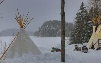 Tipis in Winter